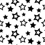 様々な大きさの星が散らばるモノクロパターン