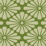 緑色の菊菱柄パターン
