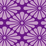 紫色の菊菱柄パターン