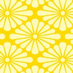 黄色の菊菱柄パターン