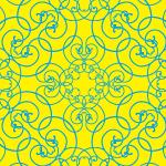 蔦が絡みあったような黄色のアラベスク柄パターン