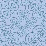 クラシカルな青いアラベスク柄パターン