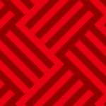 赤色のバスケット柄パターン