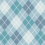 淡いブルー配色のアーガイルチェックパターン