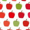 可愛いりんごのイラストが並ぶパターン