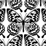 蝶が並ぶエキゾチックなパターン