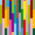 カラフルな長方形がランダムに並ぶパターン