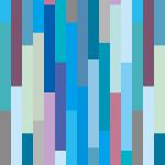 青色基調の長方形がランダムに並ぶパターン