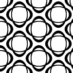 楕円形が組み合わさった品のあるモノクロパターン