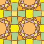 レトロ配色の幾何学模様パターン