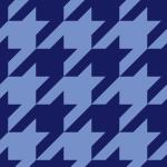 紺色のハウンドトゥース(千鳥格子)柄パターン