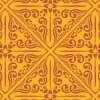 オレンジ基調のアジアンパターン