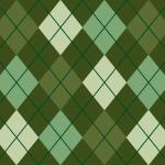 渋い緑配色のアーガイルチェック柄パターン
