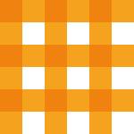 オレンジ色のギンガムチェックパターン
