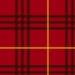 濃い赤色基調のタータンチェック柄パターン