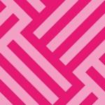 ピンク色のバスケットチェックパターン