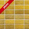 綺麗に整列した黄色いレンガの写真加工パターン