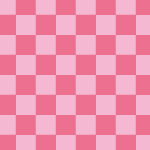 ピンク色の市松模様パターン