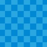 青色の市松模様パターン