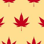 赤いモミジが並ぶパターン