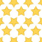 星が規則正しく並ぶパターン