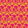 クルクルと渦巻きがつながるパターン