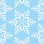 青白い雪の結晶の幾何学パターン