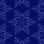 紺色の雪の結晶イラスト幾何学パターン