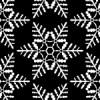 白黒の雪の結晶イラスト幾何学パターン