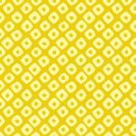 黄色の鹿の子柄パターン
