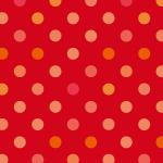 赤いドット柄パターン