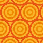 オレンジ色のサークルが並ぶパターン
