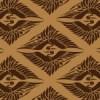 茶色の菱形鶴の和柄パターン