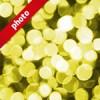 黄色くボヤケて光る写真加工パターン