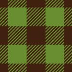 茶色と緑のシェパードチェック柄パターン