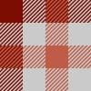 赤とグレーのガンクラブチェック柄パターン