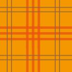 オレンジ色のタータンチェック柄パターン