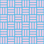 青とピンク色の網代文様 和柄パターン