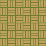 緑色と茶色の網代文様 和柄パターン
