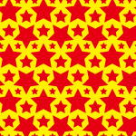 赤い星マークが並ぶパターン