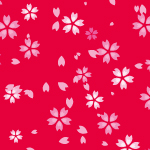 ピンク色の桜のイラストパターン