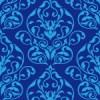 青色のダマスク柄パターン