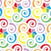 虹色の渦巻きパターン
