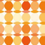オレンジ色の楕円が並ぶパターン