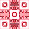 中華風の格子パターン