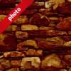 茶色の石ブロックのパターン