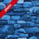 青色の石ブロックのパターン