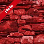 赤色の石ブロックのパターン
