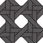 黒色のバスケット編み柄パターン