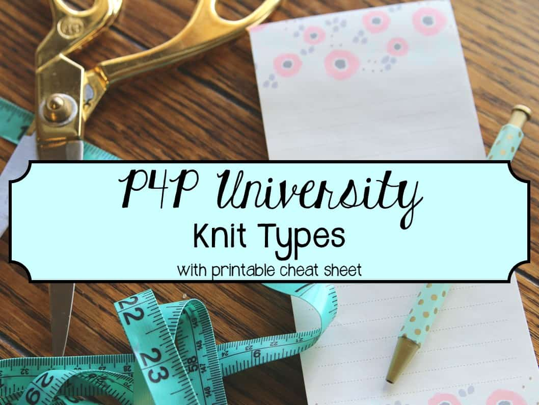 Knit Types - Patterns for Pirates